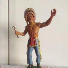 Figuras de Goma y PVC: INDIO PVC OESTE TAMAÑO GRANDE LAFREDO 125 MM. Lote 222045652