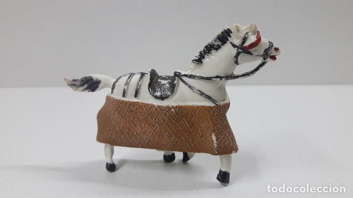 Figuras de Goma y PVC: CABALLO PARA PICADOR . REALIZADO POR TEIXIDO . ORIGINAL AÑOS 60 - Foto 2 - 222066993