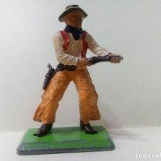 Figuras de Goma y PVC: LOTE BRITAINS 1 COWBOY CON RIFLE - PERSONAJE DEL OESTE. Lote 222069072