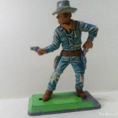 Figuras de Goma y PVC: LOTE BRITAINS 1 COWBOY CON PISTOLAS- PERSONAJE DEL OESTE. Lote 222070430