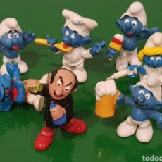 Figuras de Goma y PVC: LOTE 7 PITUFOS AÑOS 80 / THE SMURFS / PITUFINA ENFERMERS / GARGAMEL / ETC / ¿PEYO?. Lote 222091268