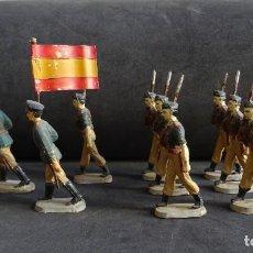 Figuras de Goma y PVC: PECH DESFILE LEGION ESPAÑOLA GOMA. Lote 222149037