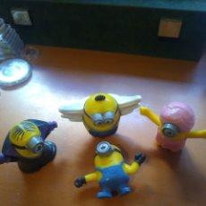 Figuras de Goma y PVC: LOTE 4 FIGURAS LOS MINIONS. Lote 222154033