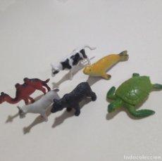Figuras de Goma y PVC: ANIMALES CAMELLO TORTUGA PVC GOMA SALVAJES VACA FOCA CABRA. Lote 222167546