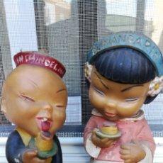 Figuras de Goma y PVC: ANTIGUO MUÑECO DE GOMA FLAN CHINO MANDARINO. Lote 222171351