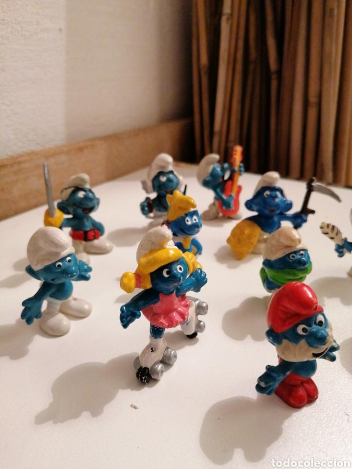 Figuras de Goma y PVC: LOTE DE ANTIGUOS PITUFOS SIN MARCA Y PITUFOS SLEICH PEYO - Foto 2 - 222198537