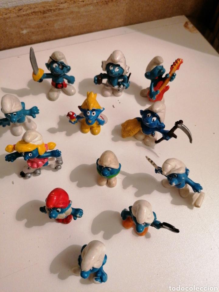 Figuras de Goma y PVC: LOTE DE ANTIGUOS PITUFOS SIN MARCA Y PITUFOS SLEICH PEYO - Foto 4 - 222198537