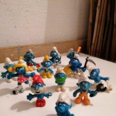 Figuras de Goma y PVC: LOTE DE ANTIGUOS PITUFOS SIN MARCA Y PITUFOS SLEICH PEYO. Lote 222198537