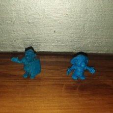 Figuras de Goma y PVC: 4 FIGURAS DUNKIN COLOR AZUL. Lote 222236250