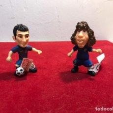 Figuras de Goma y PVC: 2 FIGURAS GOMA COMANSI CESC FABREGAS Y CARLES PUYOL NUEVAS. Lote 222243216