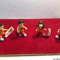 Figuras de Goma y PVC: LOTE 4 FIGURAS GOMA COMANDI NUEVAS X.HRRNANDEZ - A.INIESTA - C.PUYOL Y G.PIQUE. Lote 222243680