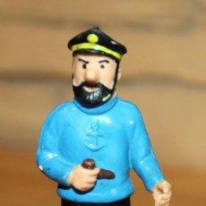 Figuras de Goma y PVC: ANTIGUA FIGURA CAPITAN HADDOCK, DE TINTIN - COMICS SPAIN - AÑO 1984 - BUEN ESTADO - 8.5CM. Lote 222243895