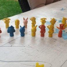 Figuras de Goma y PVC: 20 CAPUCHONES PARA LOS LAPICES DUNKIN. Lote 222245387