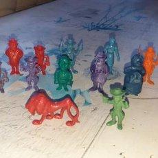Figuras de Goma y PVC: LOTE PERSONAJES LUCKY LUCK DUNKIN. Lote 222255008