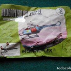 Figuras de Goma y PVC: MONTAPLEX ELICOPTERO DE LA POLICIA SIN ABRIR. Lote 222327507