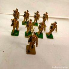 Figuras de Borracha e PVC: NUEVE PARACAIDISTAS DE REAMSA. AÑOS 60. Lote 222355090