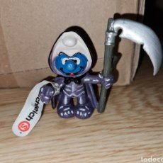 Figuras de Goma y PVC: FIGURA PVC DURO PITUFO MUERTE HALLOWEEN SCHLEICH CON ETIQUETA PEYO SMURFS TERROR MONSTRUOS. Lote 222403387