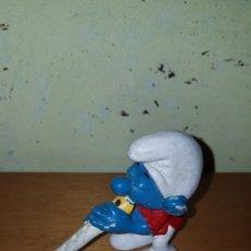 Figuras de Goma y PVC: FIGURA PVC GOMA PITUFO FLAUTISTA FLAUTA MÚSICO SCHLEICH MUÑECO DIBUJOS ANIMADOS PITUFOS SMURFS. Lote 222403423