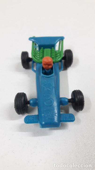 Figuras de Goma y PVC: BOLIDO DE CARRERAS . JUGUETE DE KIOSCO . AÑOS 70 EN PLASTICO - Foto 3 - 222439667