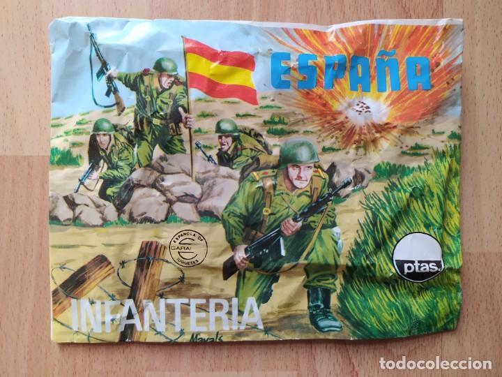 SOBRE CERRADO DE MONTAPLEX ESPAÑA INFANTERIA -105- (Juguetes - Figuras de Goma y Pvc - Montaplex)