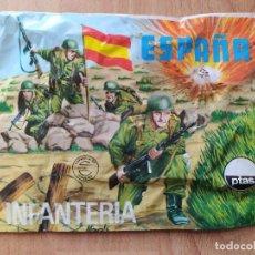 Figuras de Goma y PVC: SOBRE CERRADO DE MONTAPLEX ESPAÑA INFANTERIA -105-. Lote 222536442