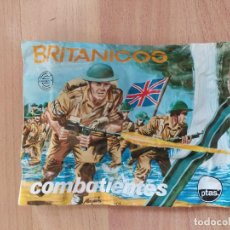 Figuras de Goma y PVC: SOBRE CERRADO DE MONTAPLEX BRITÁNICOS COMBATIENTES -104-. Lote 222537208