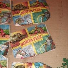 Figuras de Goma y PVC: 8 SOBRES MONTAPLEX OVNI VESPA TANQUE. Lote 222607707