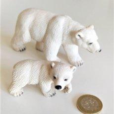 Figuras de Goma y PVC: SCHLEICH - OSOS POLARES. Lote 222640367