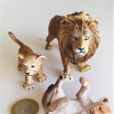 Figuras de Goma y PVC: SCHLEICH - LEONES. Lote 222647971