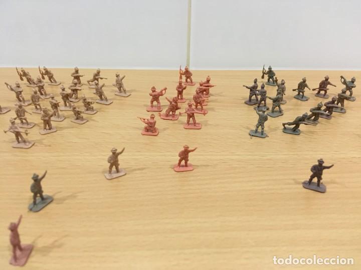 Figuras de Goma y PVC: LOTE DE 175 SOLDADITOS MONTAPLEX - EJÉRCITO ESPAÑOL - EJÉRCITO ITALIANO - Foto 2 - 222676160