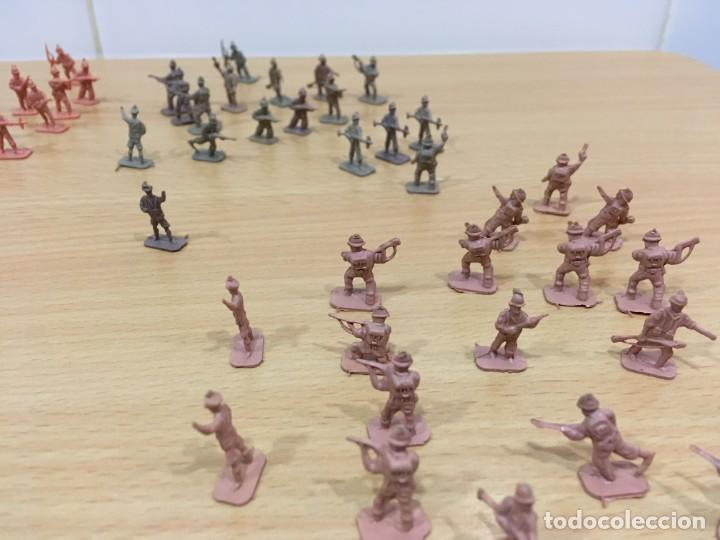 Figuras de Goma y PVC: LOTE DE 175 SOLDADITOS MONTAPLEX - EJÉRCITO ESPAÑOL - EJÉRCITO ITALIANO - Foto 3 - 222676160