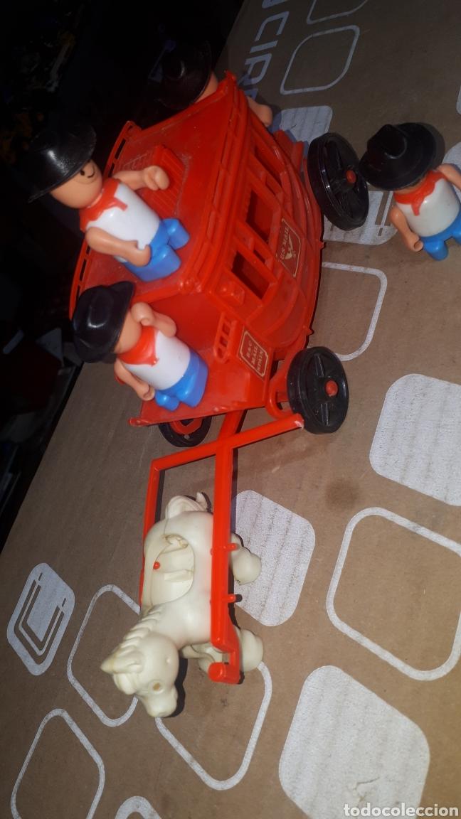 Figuras de Goma y PVC: Antigua caravana del oeste pvc con muñecos BULLYCAN - Foto 2 - 222709731