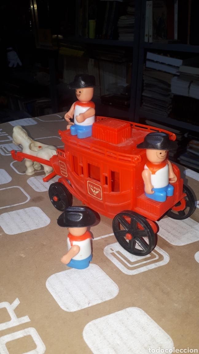 Figuras de Goma y PVC: Antigua caravana del oeste pvc con muñecos BULLYCAN - Foto 3 - 222709731