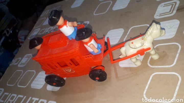 Figuras de Goma y PVC: Antigua caravana del oeste pvc con muñecos BULLYCAN - Foto 4 - 222709731