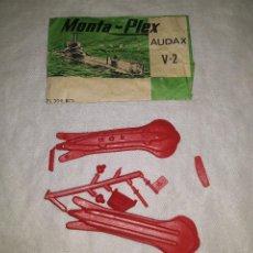 Figuras de Goma y PVC: MONTAPLEX- AUDAX V-2-SOBRE ABIERTO +COLADA COLOR ROJO-AÑOS 70. Lote 222716736