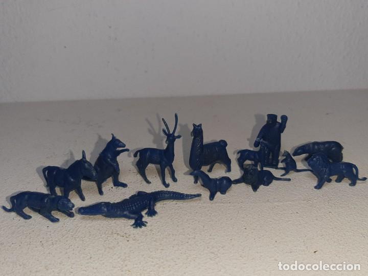 Figuras de Goma y PVC: MONTAPLEX : LOTE DE 13 FIGURAS DE ANIMALES SALVAJES - FAUNA SALVAJE ZOO AÑOS 70 / 80 - Foto 9 - 222734435