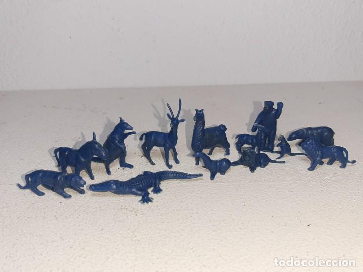 MONTAPLEX : LOTE DE 13 FIGURAS DE ANIMALES SALVAJES - FAUNA SALVAJE ZOO AÑOS 70 / 80 (Juguetes - Figuras de Goma y Pvc - Montaplex)