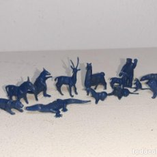 Figuras de Goma y PVC: MONTAPLEX : LOTE DE 13 FIGURAS DE ANIMALES SALVAJES - FAUNA SALVAJE ZOO AÑOS 70 / 80. Lote 222734435