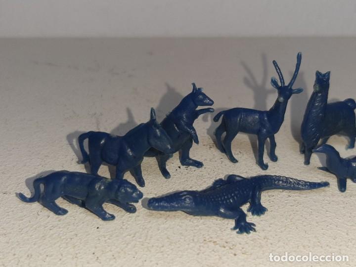 Figuras de Goma y PVC: MONTAPLEX : LOTE DE 13 FIGURAS DE ANIMALES SALVAJES - FAUNA SALVAJE ZOO AÑOS 70 / 80 - Foto 2 - 222734435