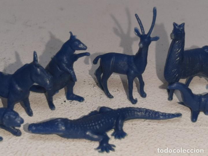 Figuras de Goma y PVC: MONTAPLEX : LOTE DE 13 FIGURAS DE ANIMALES SALVAJES - FAUNA SALVAJE ZOO AÑOS 70 / 80 - Foto 4 - 222734435