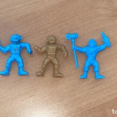 Figuras de Goma y PVC: LOTE 3 FIGURITAS PREMIUM HE- MAN HEMAN AÑOS 80, PHOSKITOS,100 % ESPAÑOLAS. Lote 222780912