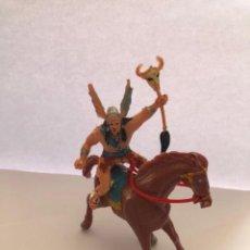 Figurines en Caoutchouc et PVC: FIGURA ESTEREOPLAST VIKINGO CON CABALLO ORIGINAL. Lote 222809392