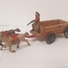Figuras de Goma y PVC: ANTIGUA CARRETA DE CARGA DEL OESTE EN MADERA LAFREDO. Lote 222849938