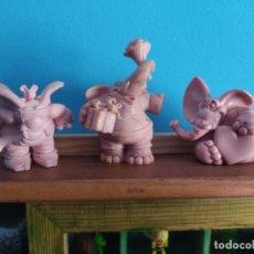 Figuras de Goma y PVC: COMICS SPAIN,LOTE DE 3 FIGURAS PIPPOS EN CRUDO. Lote 222892223