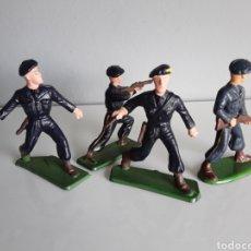 Figuras de Goma y PVC: SOLDADOS FRANCESES, COMANDO DE CAZADORES DE MONTAÑA, STARLUX FRANCE AÑOS 70, 1:32 APROX. BRITAINS. Lote 222921068