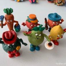 Figuras de Goma y PVC: LOTE 6 FIGURAS PVC LA PANDILLA VEGETAL - COMICS SPAIN - BUEN ESTADO. Lote 222995853