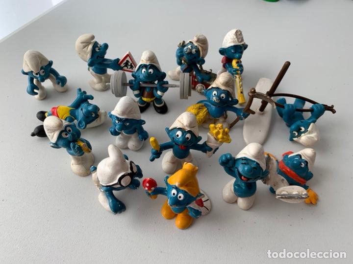 LOTE 15 FIGURAS PVC LOS PITUFOS - SCHLEICH PEYO - ORIGINALES (Juguetes - Figuras de Goma y Pvc - Schleich)