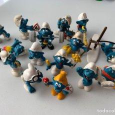 Figuras de Goma y PVC: LOTE 15 FIGURAS PVC LOS PITUFOS - SCHLEICH PEYO - ORIGINALES. Lote 222996982
