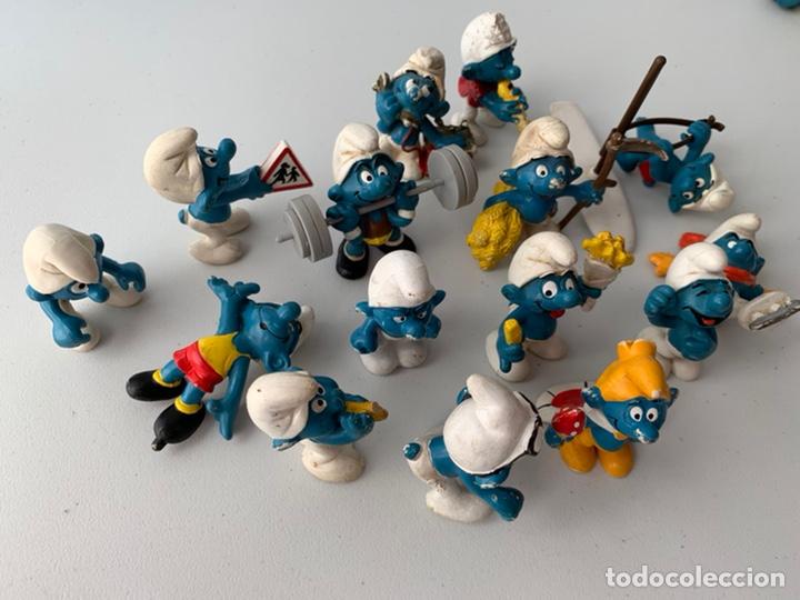 Figuras de Goma y PVC: LOTE 15 FIGURAS PVC LOS PITUFOS - SCHLEICH PEYO - ORIGINALES - Foto 2 - 222996982
