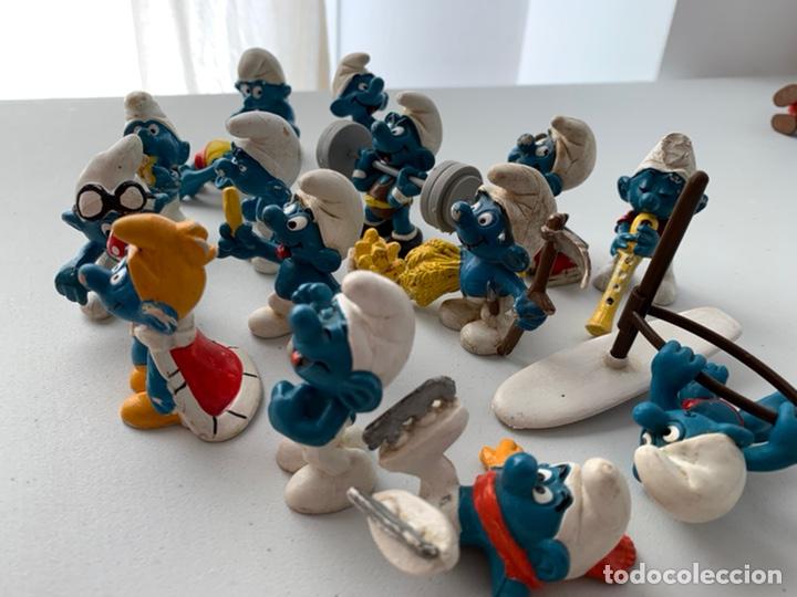 Figuras de Goma y PVC: LOTE 15 FIGURAS PVC LOS PITUFOS - SCHLEICH PEYO - ORIGINALES - Foto 3 - 222996982